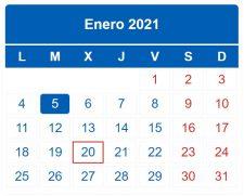 CALENDARIO DEL CONTRIBUYENTE. ENERO 2021
