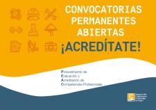 ACREDITA TUS COMPETENCIAS PROFESIONALES: SE ABREN NUEVAS CONVOCATORIAS DEL PEAC